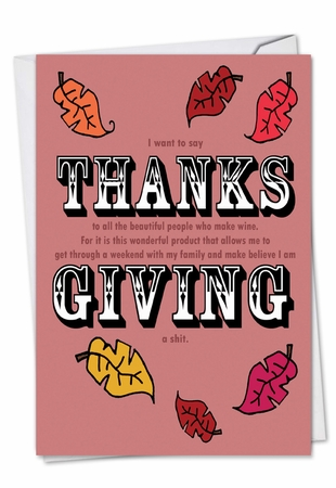 Hysterical Thanksgiving Card From NobleWorksInc.com - Thanks Giving