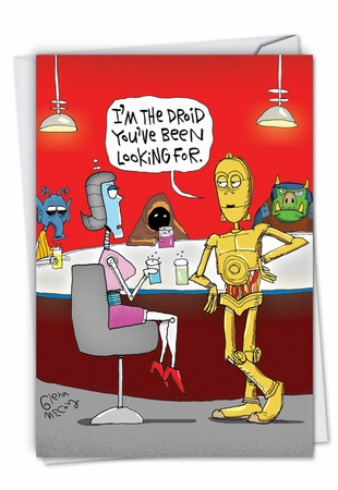 Humorous Valentine's Day Card From NobleWorksInc.com - The Droid