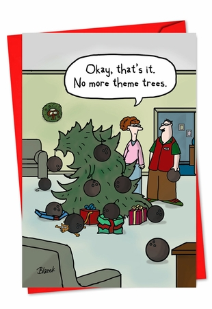 Funny Christmas Card From NobleWorksInc.com - Theme Tree