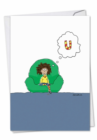 Humorous Miss You Card From NobleWorksInc.com - Thinking of U