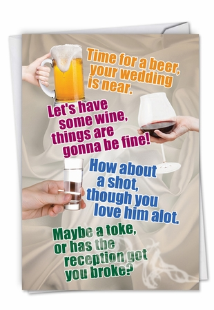 Funny Bachelorette Card From NobleWorksInc.com - Time For A Beer