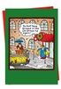 Humorous Christmas Card From NobleWorksInc.com - Tip the Doorman