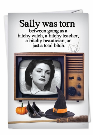 Funny Halloween Card From NobleWorksInc.com - Total Bitch