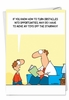 Humorous Birthday Father Card From NobleWorksInc.com - Toys on Stairway