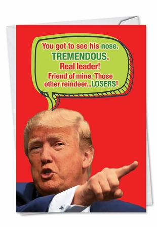 Hilarious Christmas Card From NobleWorksInc.com - Trump Got To See His Nose