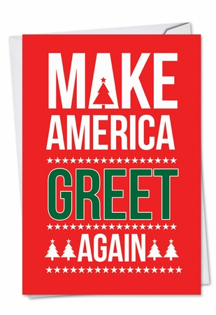 Hilarious Christmas Card From NobleWorksInc.com - Trump Greet Again