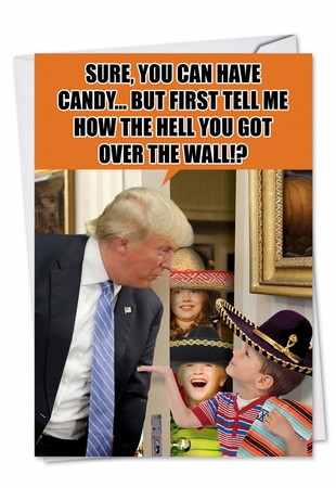 Hilarious Halloween Card From NobleWorksInc.com - Trump Over The Wall