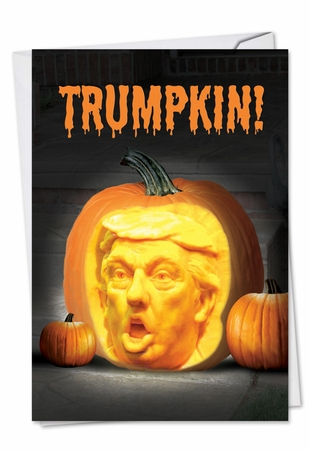 Hysterical Halloween Card From NobleWorksInc.com - Trumpkin