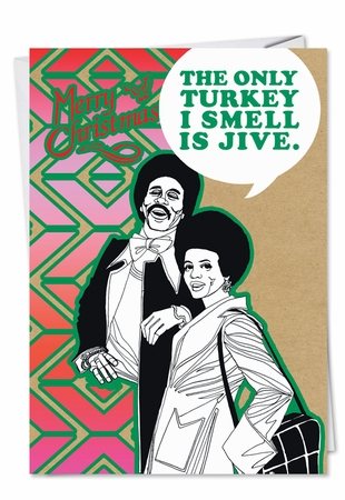 Humorous Christmas Card From NobleWorksInc.com - Turkey Jive