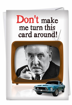 Humorous Father's Day Card From NobleWorksInc.com - Turn Card Around
