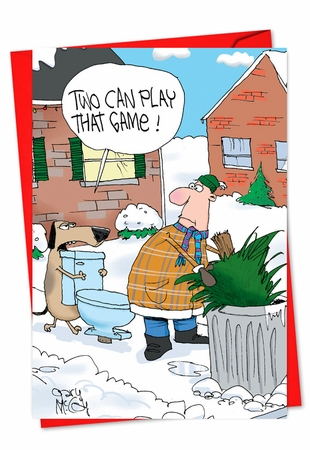 Humorous New Year Card From NobleWorksInc.com - Two Can Play This Game