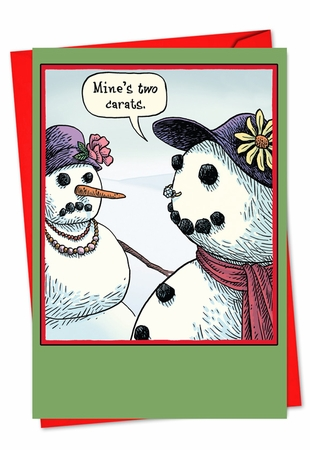 Funny Christmas Card From NobleWorksInc.com - Two Carats