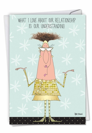 Hysterical Anniversary Card From NobleWorksInc.com - Understanding Relationship