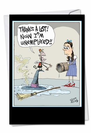 Humorous Birthday Card From NobleWorksInc.com - Unemployed Witch