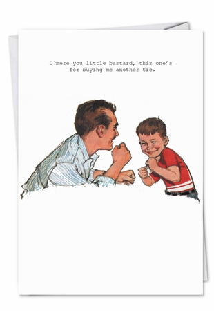 Funny Birthday Father Card From NobleWorksInc.com - Vintage Dad Boxing Match