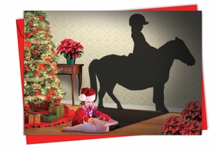 Artful Christmas Card From NobleWorksInc.com - Visions of Christmas