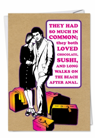 Humorous Valentine's Day Card From NobleWorksInc.com - Walk On Beach