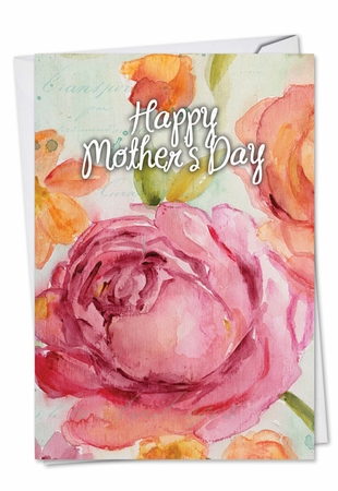 Artful Mother's Day Card From NobleWorksInc.com - Warm Blossoms