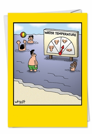 Hilarious Birthday Card From NobleWorksInc.com - Water Temp