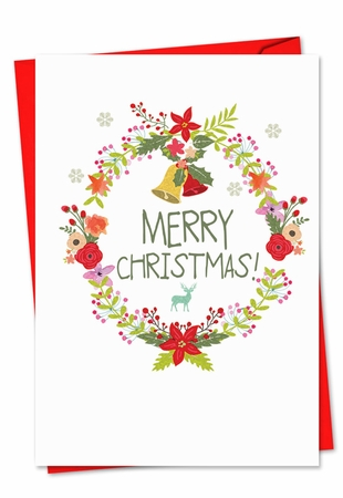 Beautiful Christmas Card From NobleWorksInc.com - Watercolor Wreaths