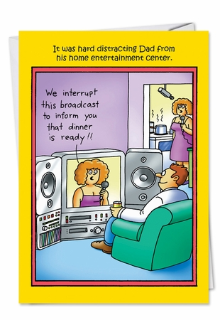 Hilarious Father's Day Card From NobleWorksInc.com - We Interrupt