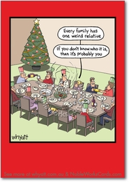 Weird Relative Funny Christmas Card by NobleWorks and Timothy Whyatt