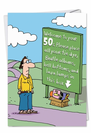Humorous Birthday Card From NobleWorksInc.com - Welcome to 50s