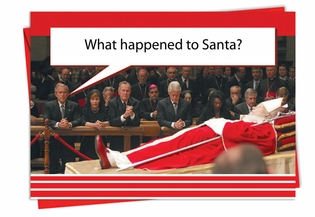 Hysterical Christmas Card From NobleWorksInc.com - What Happened to Santa