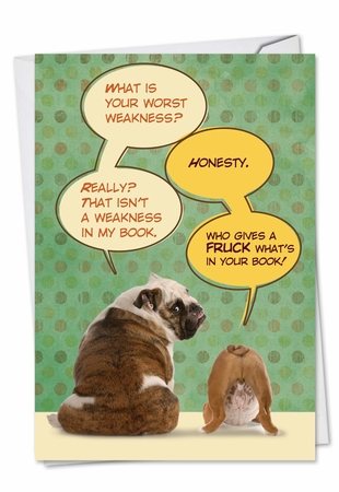 Funny Birthday Card From NobleWorksInc.com - Who Gives a Fuck in Book