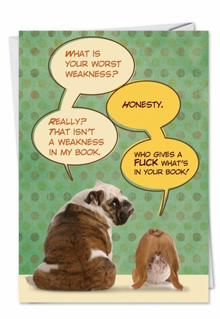 Hilarious Birthday Card From NobleWorksInc.com - Who Gives a Fuck in Book