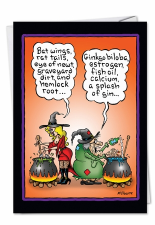 Funny Halloween Card From NobleWorksInc.com - Witch Brew