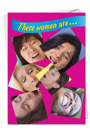 Hysterical Get Well Card From NobleWorksInc.com - Women Sneezing
