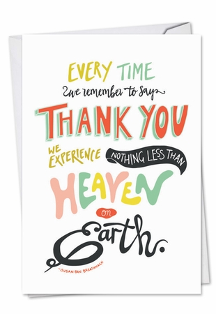 Artful Thank You Card From NobleWorksInc.com - Words Of Appreciation
