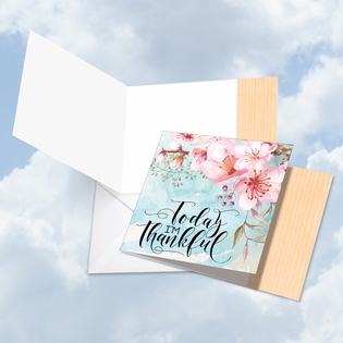 Artful Blank Friendship Square-Top Card From NobleWorksInc.com - Words of Encouragement I'm Thankful