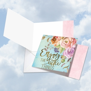 Artful Blank Friendship Square-Top Card From NobleWorksInc.com - Words of Encouragement Little Things