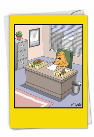 Hilarious Administrative Professionals Day Card From NobleWorksInc.com - Working Dog From All