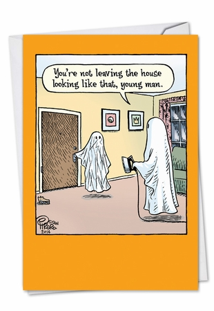 Hilarious Halloween Card From NobleWorksInc.com - Wrinkled Ghost