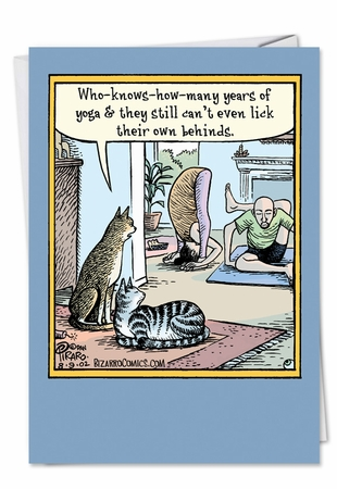 Hilarious Birthday Card From NobleWorksInc.com - Yoga Lick Behinds