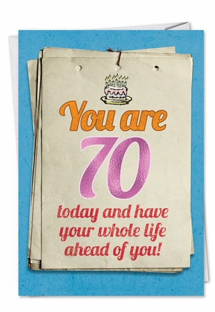 Humorous Birthday Card From NobleWorksInc.com - You are 70 Bitch