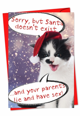 Funny Christmas Card From NobleWorksInc.com - Your Parents Lie And Have