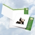 Artistic Blank Square-Top Card From NobleWorksInc.com - Zoo Yoga - Panda