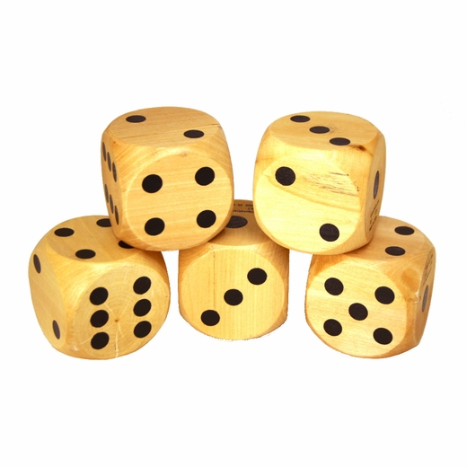 "2 3/4"" Wood Yard Dice Set"