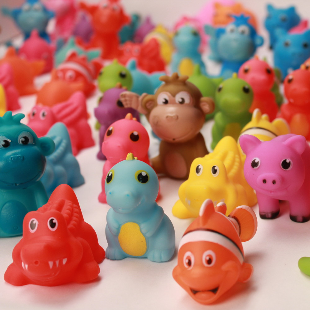 """2"""" Assorted Rubber Animals"""