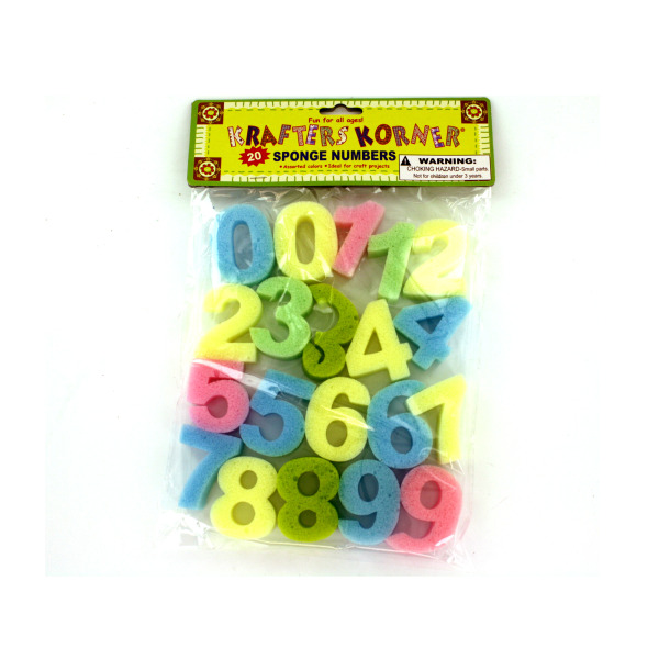 20 Pack Sponge Number Craft Set