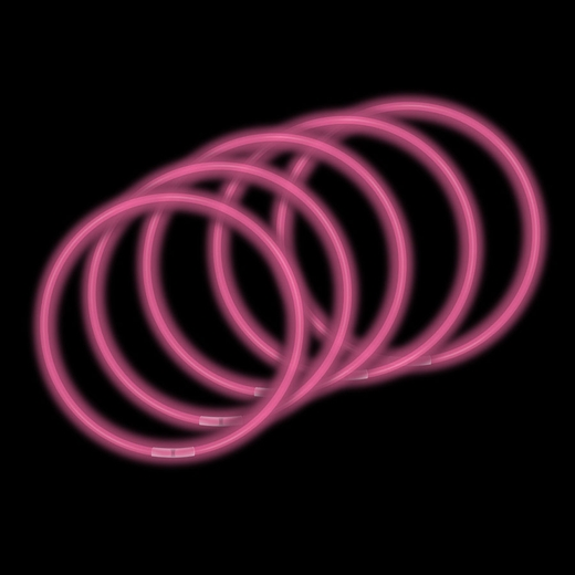 50-Pack 22 Inch Glow Necklaces - Pink