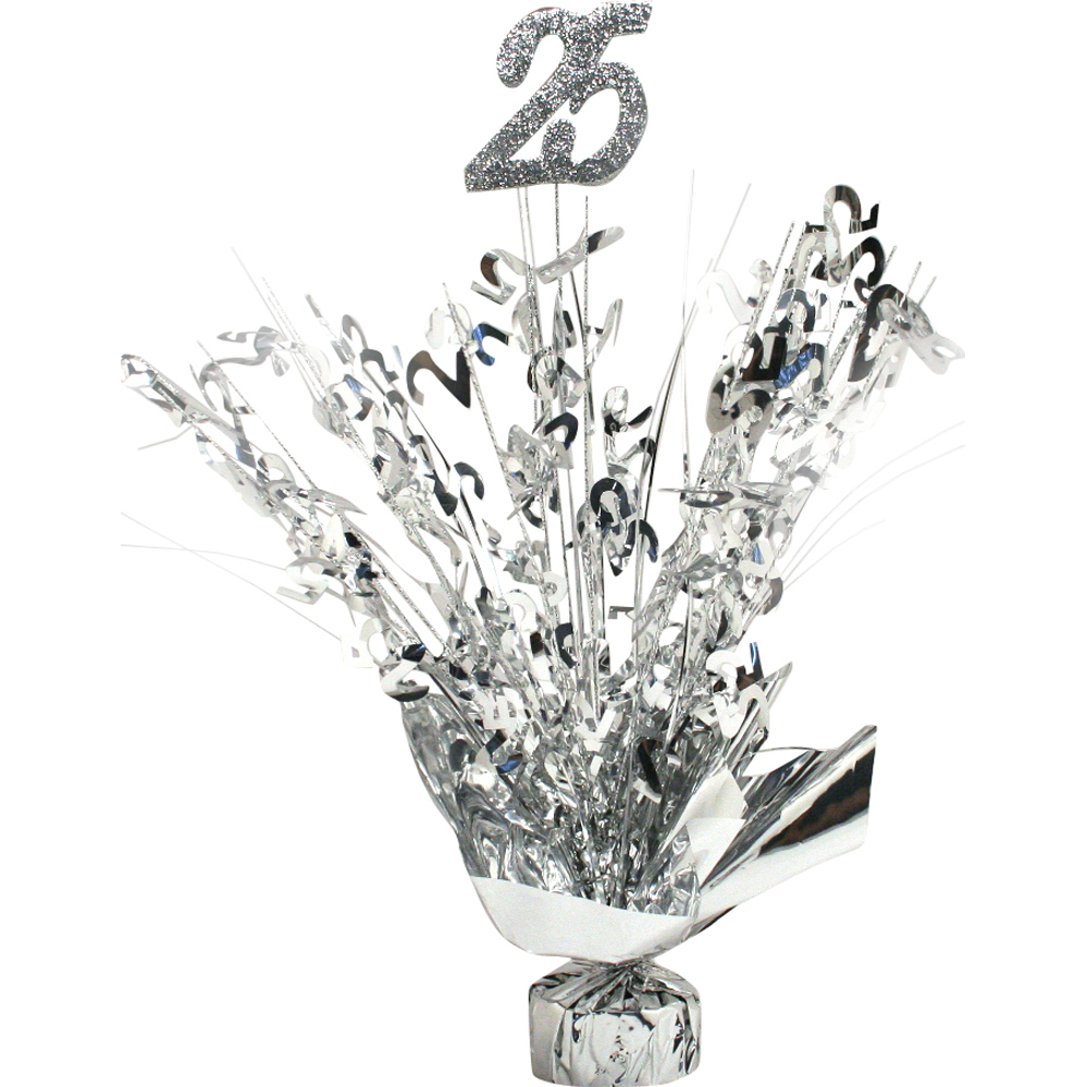 25th anniversary silver centerpiece for 25th wedding anniversary decoration