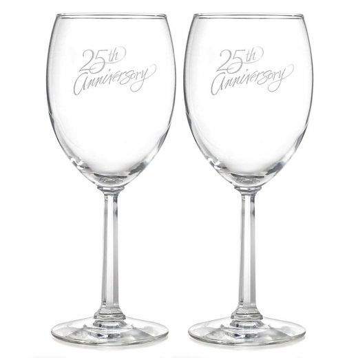 25th Anniversary Wine Glasses