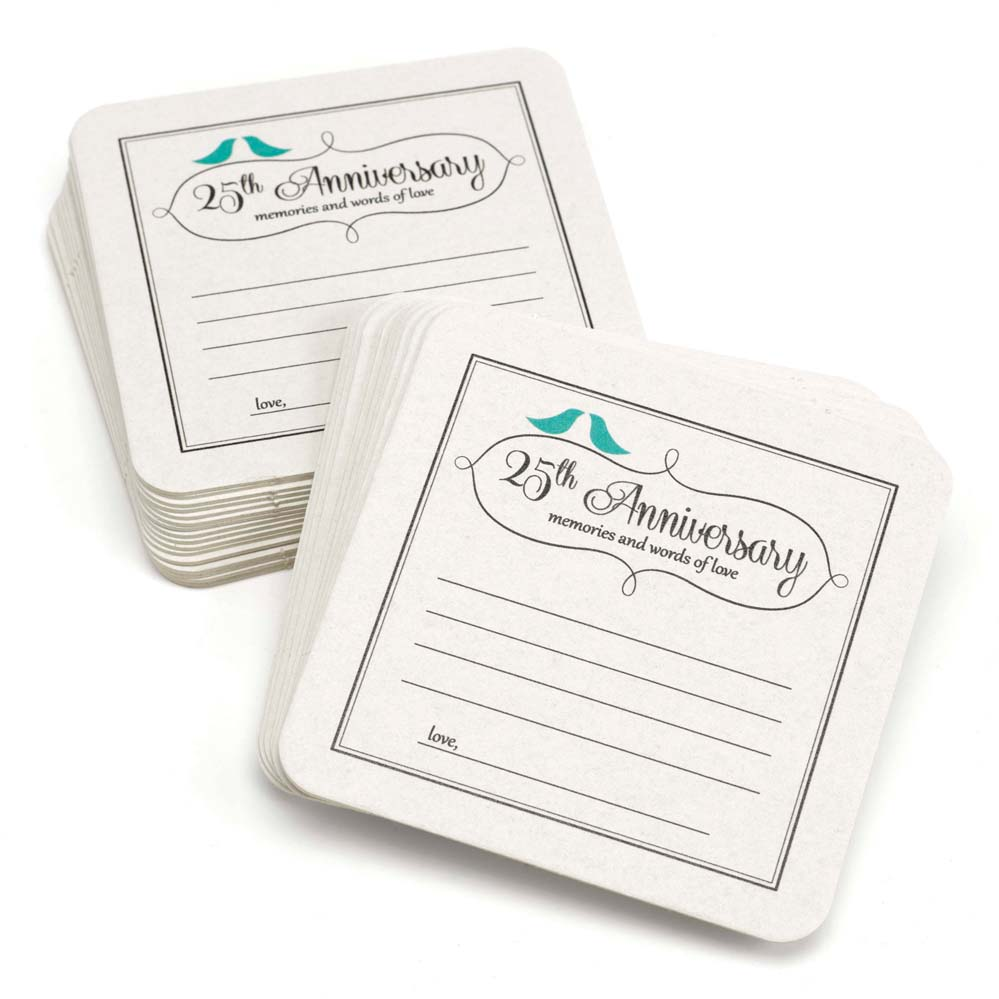 25th Anniversary Words of Love Coasters