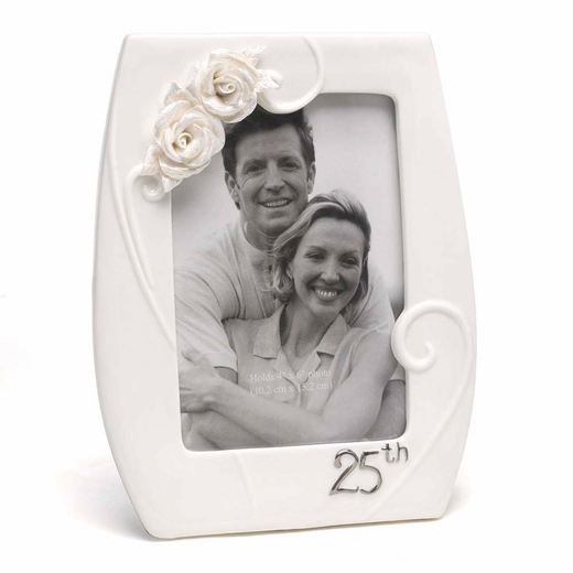 25th Pearl Rose Frame