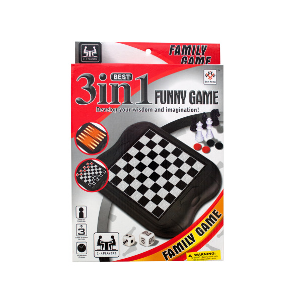 3 In 1 Classic Game Set